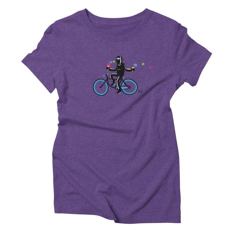 Ninja on a blue bike! Women's Triblend T-Shirt by Weheartninjas's Artist Shop