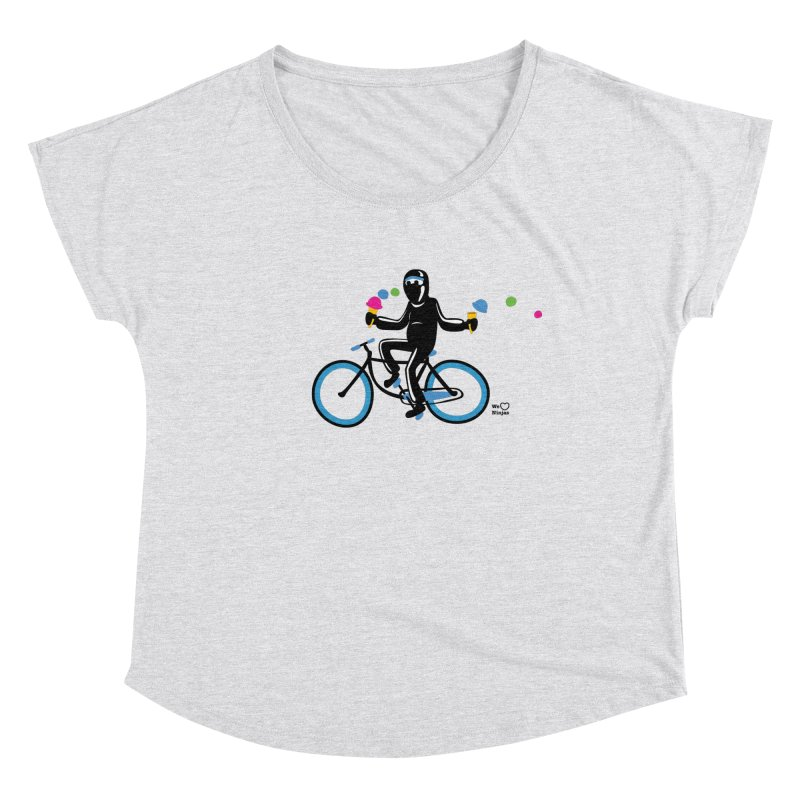 Ninja on a blue bike! Women's Scoop Neck by Weheartninjas's Artist Shop