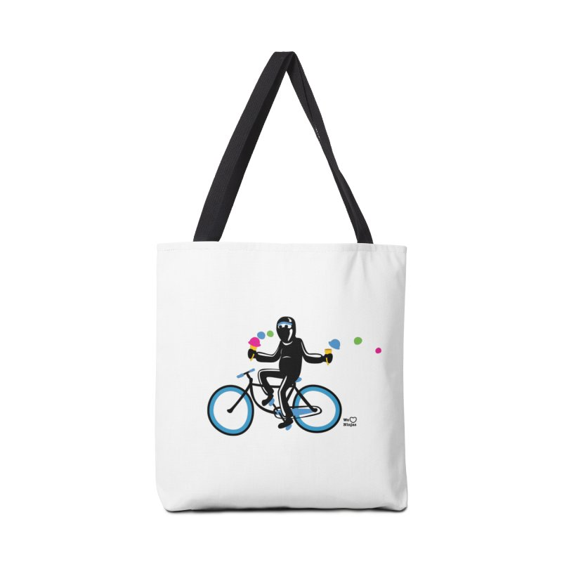 Ninja on a blue bike! Accessories Bag by Weheartninjas's Artist Shop