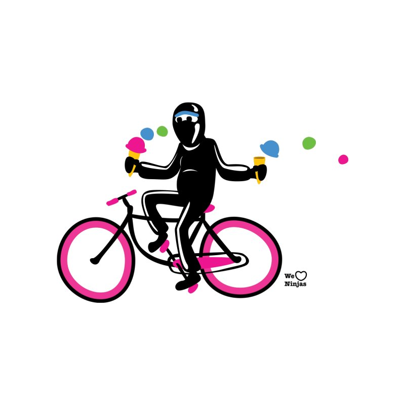 Ninja on a neon pink bike! Men's T-Shirt by Weheartninjas's Artist Shop