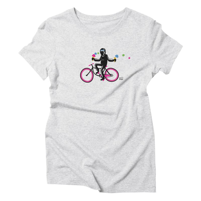 Ninja on a neon pink bike! Women's Triblend T-Shirt by Weheartninjas's Artist Shop