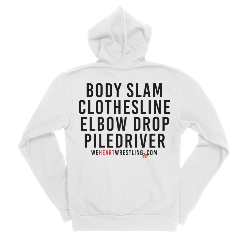 Old School Moves | Black Women's Sponge Fleece Zip-Up Hoody by We Heart Wrestling