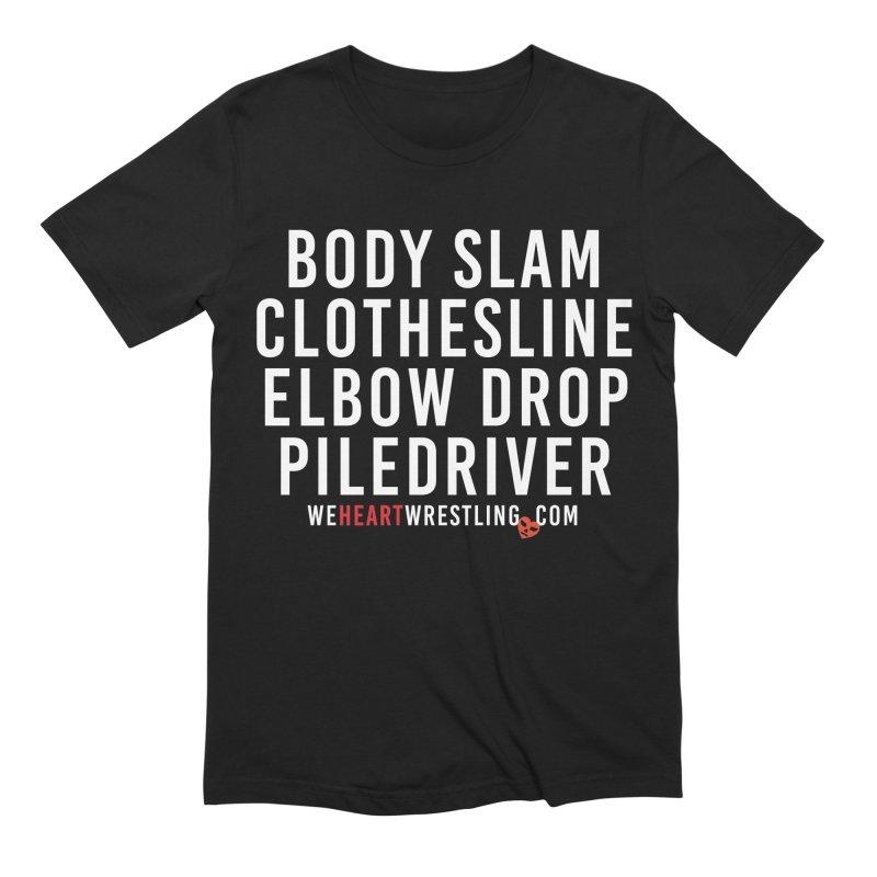 Old School Moves | White Men's T-Shirt by We Heart Wrestling
