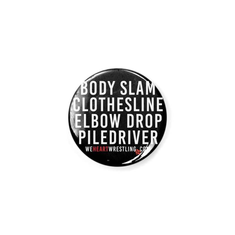 Old School Moves   White Accessories Button by We Heart Wrestling