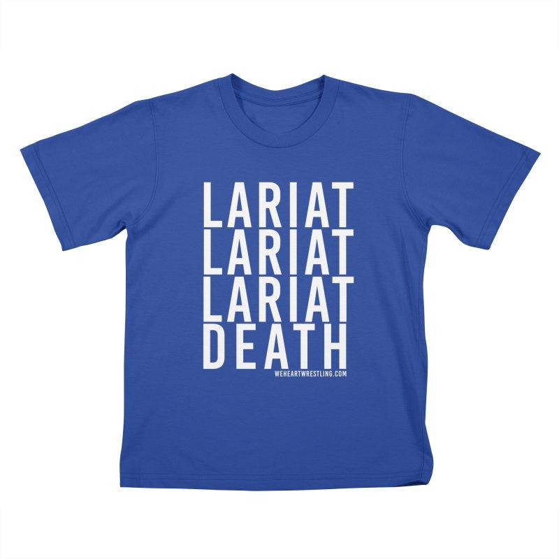 Lariat Death | White Kids T-Shirt by We Heart Wrestling