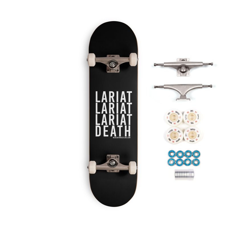 Lariat Death | White Accessories Complete - Premium Skateboard by We Heart Wrestling