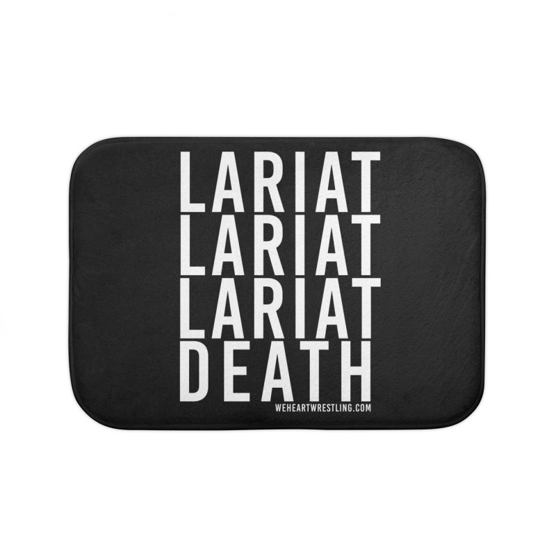 Lariat Death | White Home Bath Mat by We Heart Wrestling