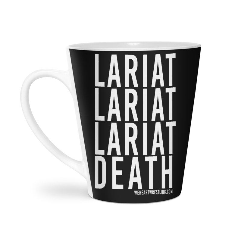 Lariat Death | White Accessories Latte Mug by We Heart Wrestling