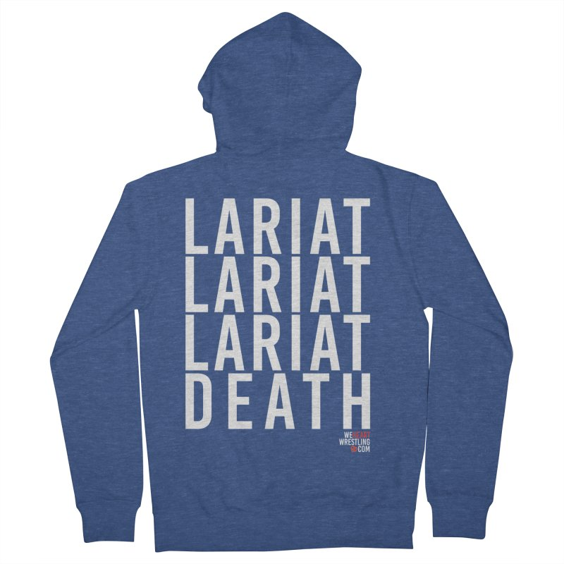 Lariat Death | White Women's French Terry Zip-Up Hoody by We Heart Wrestling