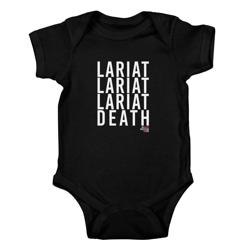 Lariat Death | White Kids Baby Bodysuit by We Heart Wrestling