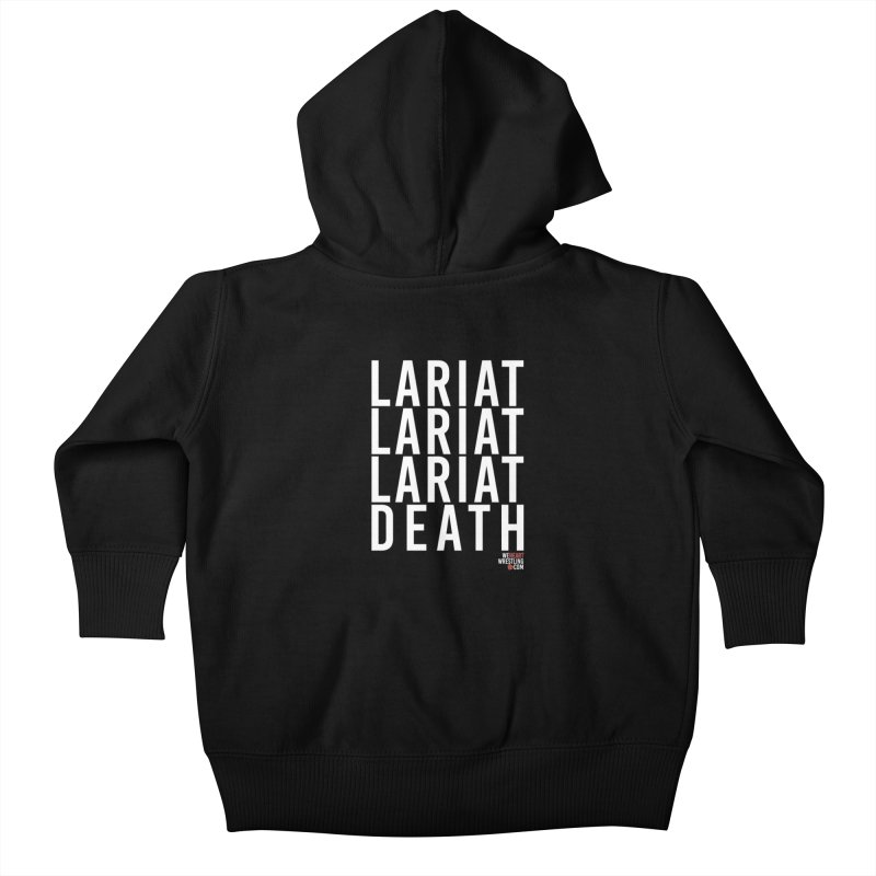 Lariat Death | White Kids Baby Zip-Up Hoody by We Heart Wrestling