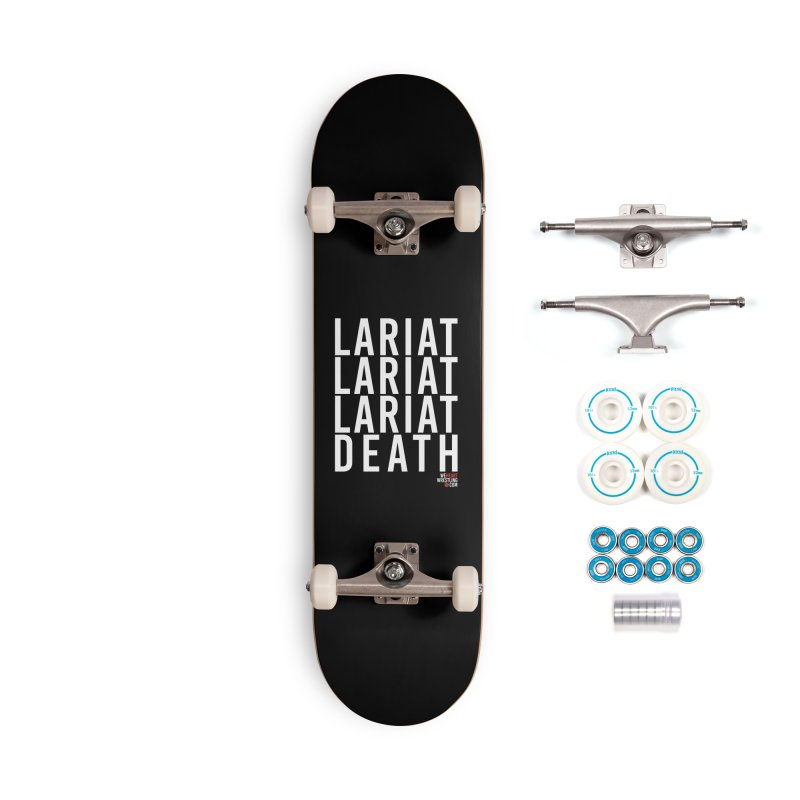 Lariat Death | White Accessories Complete - Basic Skateboard by We Heart Wrestling