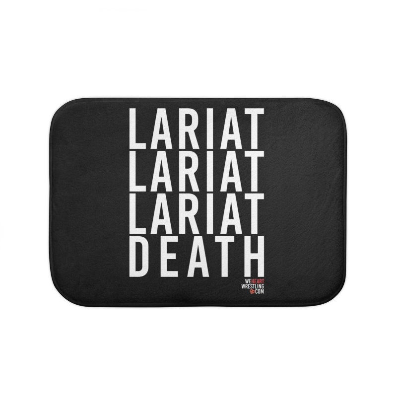 Lariat Death   White Home Bath Mat by We Heart Wrestling