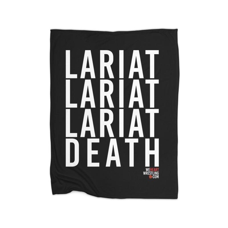 Lariat Death   White Home Fleece Blanket Blanket by We Heart Wrestling