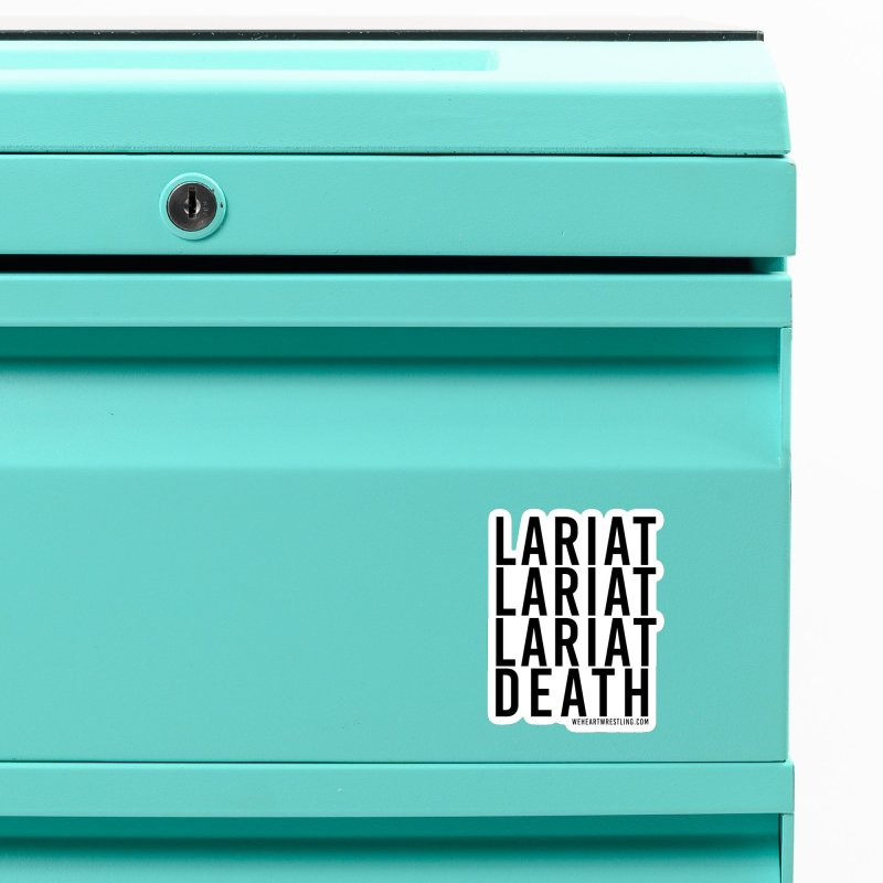 Lariat Death | Black Accessories Magnet by We Heart Wrestling