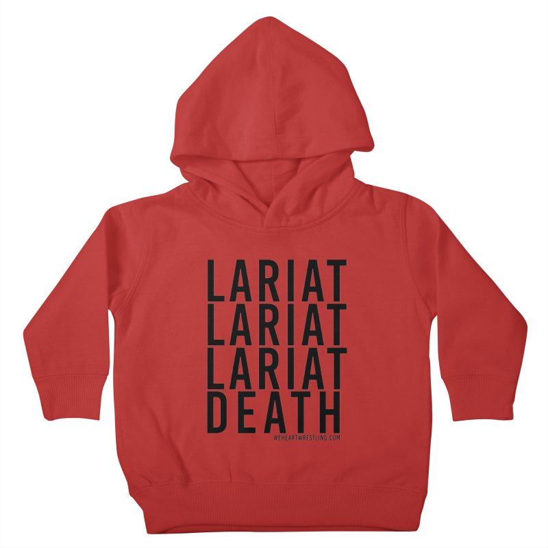 Lariat Death | Black Kids Toddler Pullover Hoody by We Heart Wrestling