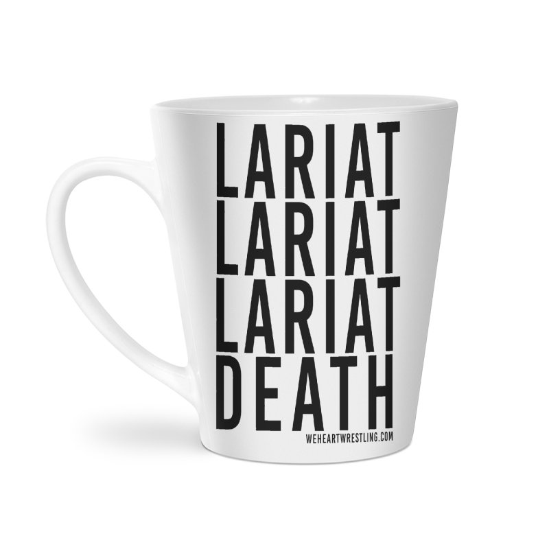 Lariat Death | Black Accessories Latte Mug by We Heart Wrestling