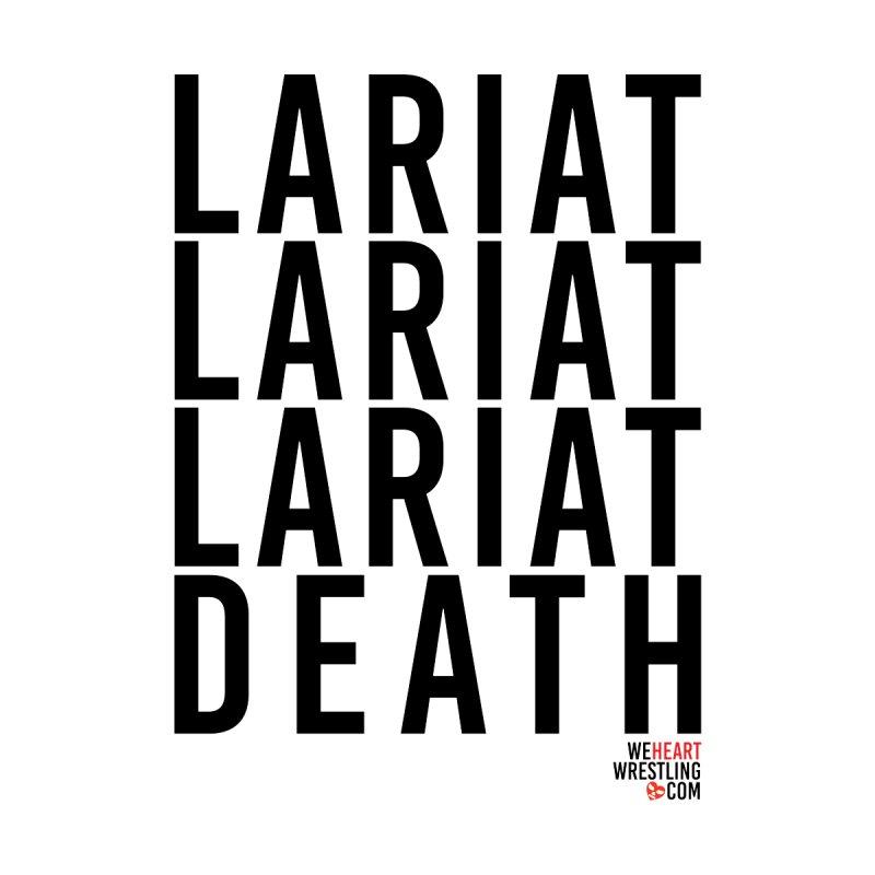 Lariat Death | Black Men's T-Shirt by We Heart Wrestling