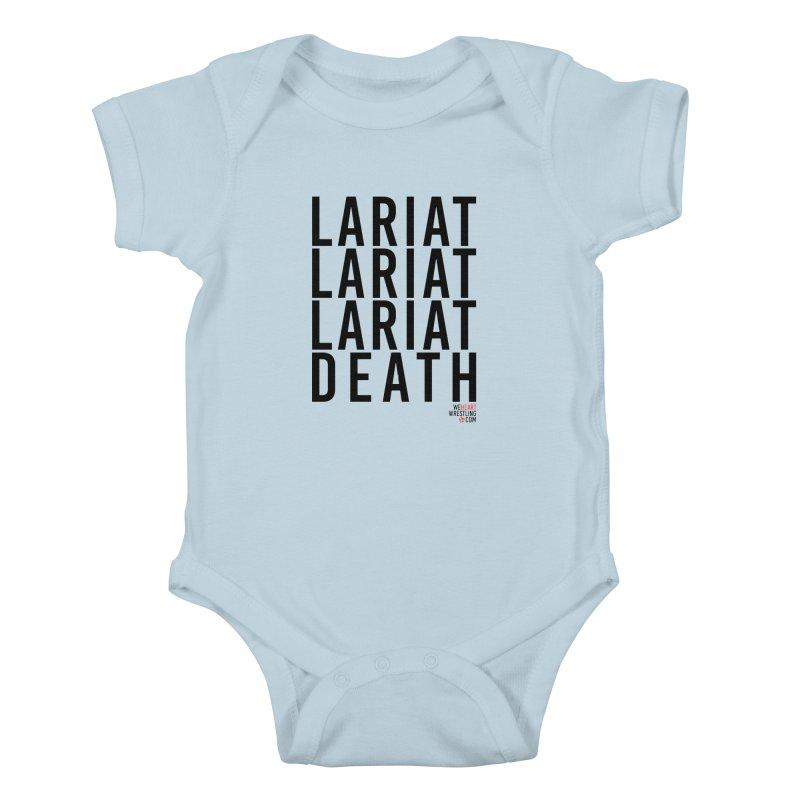 Lariat Death | Black Kids Baby Bodysuit by We Heart Wrestling