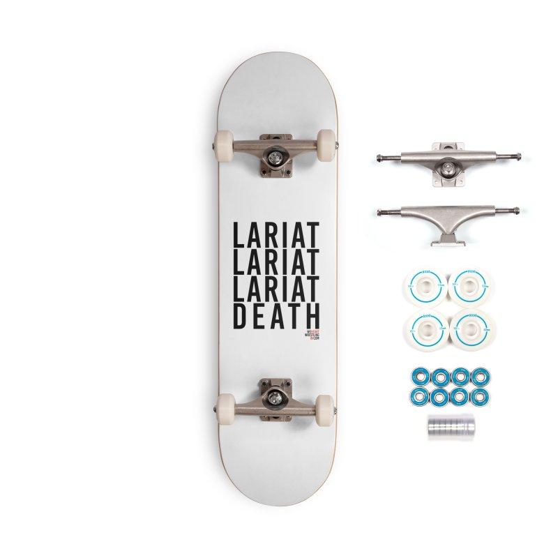 Lariat Death | Black Accessories Complete - Basic Skateboard by We Heart Wrestling