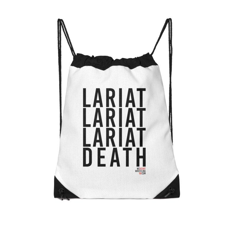 Lariat Death | Black Accessories Drawstring Bag Bag by We Heart Wrestling