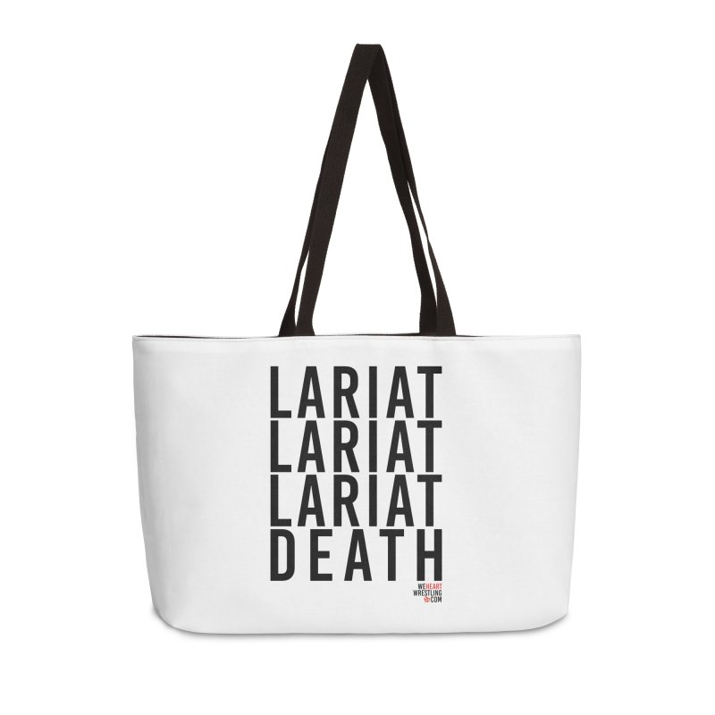 Lariat Death | Black Accessories Weekender Bag Bag by We Heart Wrestling