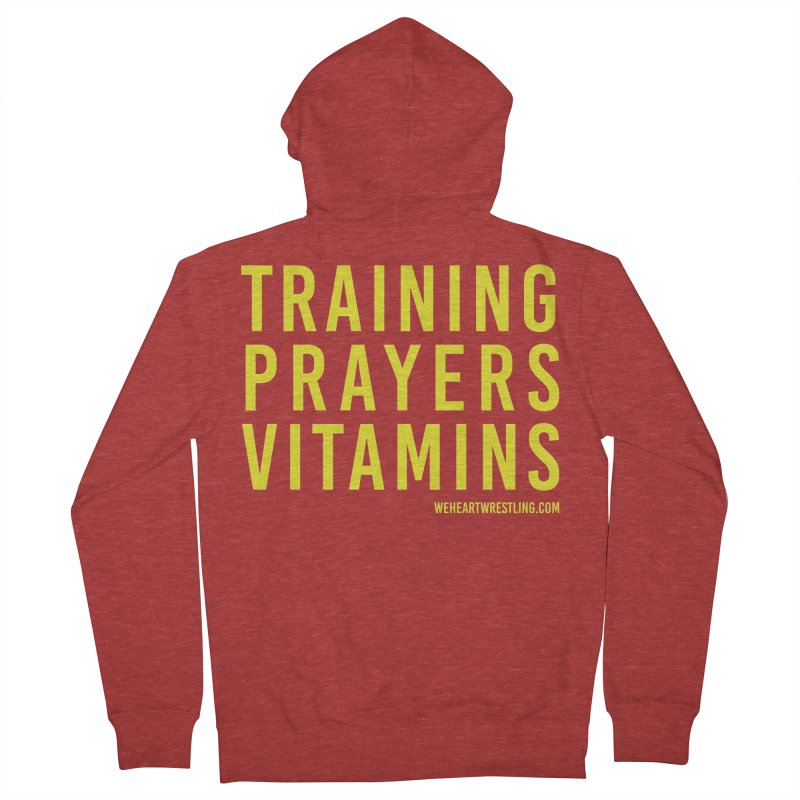 Commandments, Brother Men's French Terry Zip-Up Hoody by We Heart Wrestling