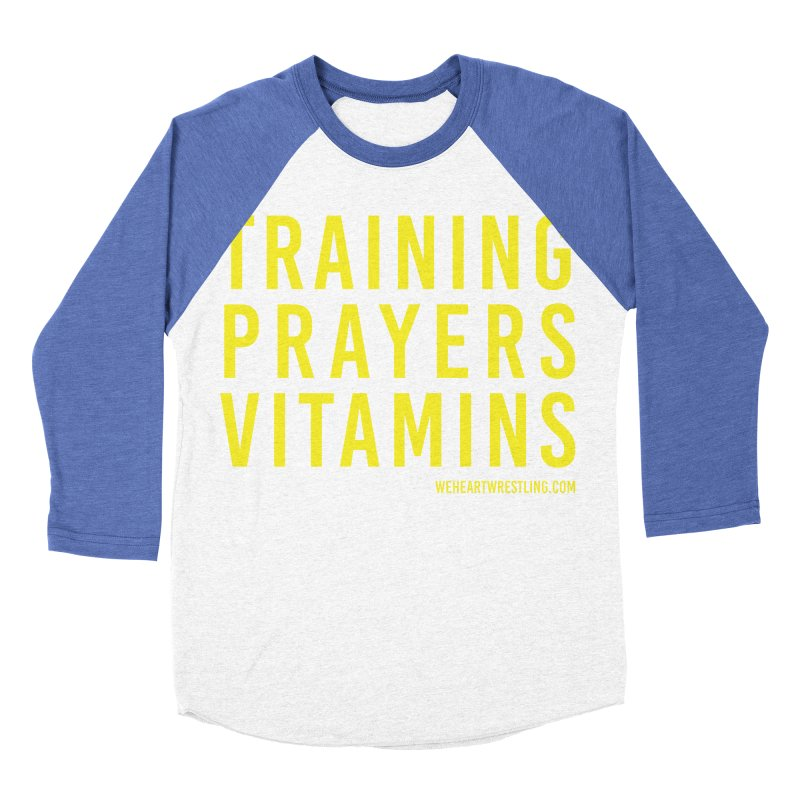 Commandments, Brother Women's Baseball Triblend Longsleeve T-Shirt by We Heart Wrestling