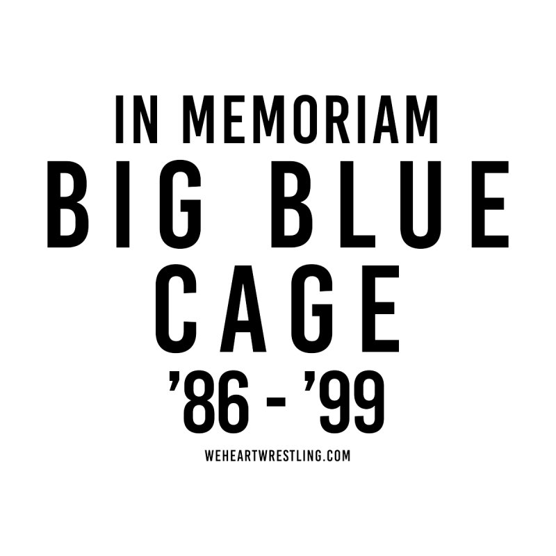 Big Blue Cage | Black Type Accessories Skateboard by We Heart Wrestling