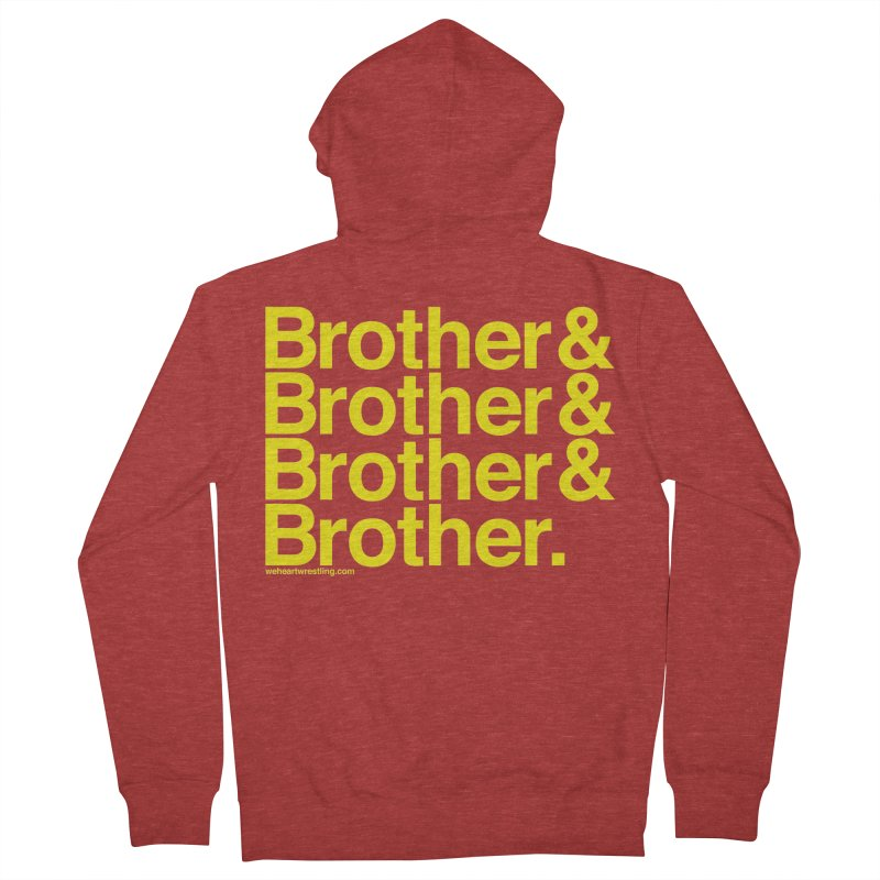 Brother Women's French Terry Zip-Up Hoody by We Heart Wrestling