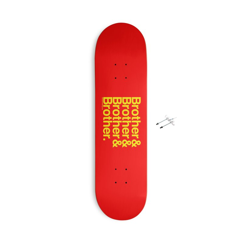 Brother Accessories With Hanging Hardware Skateboard by We Heart Wrestling