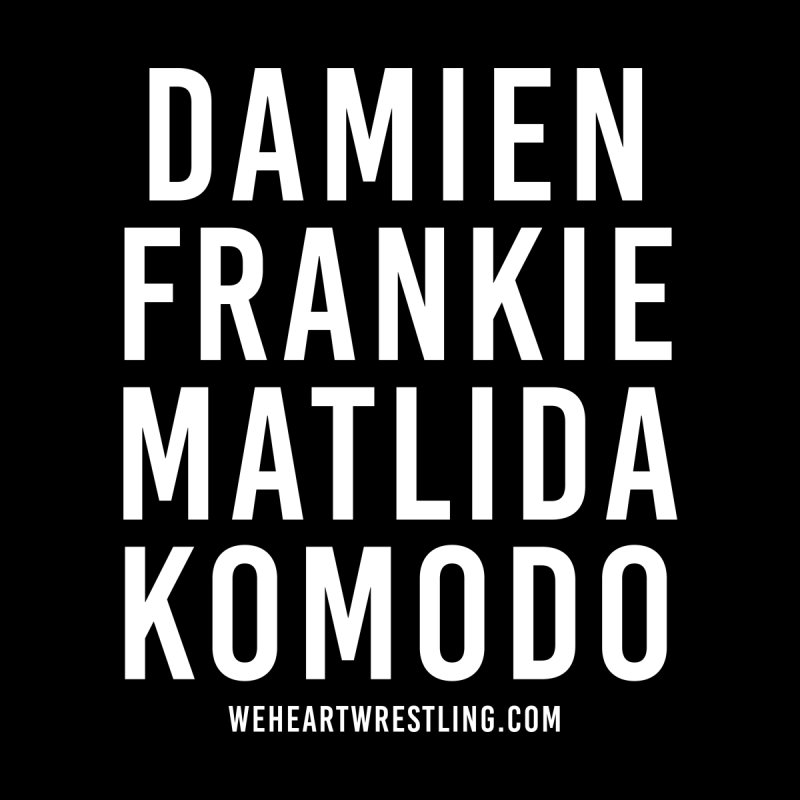 Damien Frankie Matilda Komodo | White Type Accessories Skateboard by We Heart Wrestling