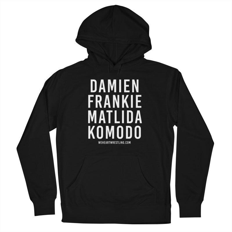 Damien Frankie Matilda Komodo | White Type Men's French Terry Pullover Hoody by We Heart Wrestling