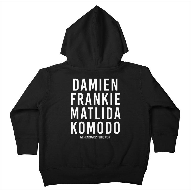 Damien Frankie Matilda Komodo | White Type Kids Toddler Zip-Up Hoody by We Heart Wrestling