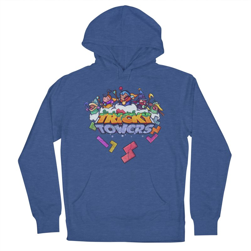 Tricky Towers Men's French Terry Pullover Hoody by WeirdBeard Games Shop