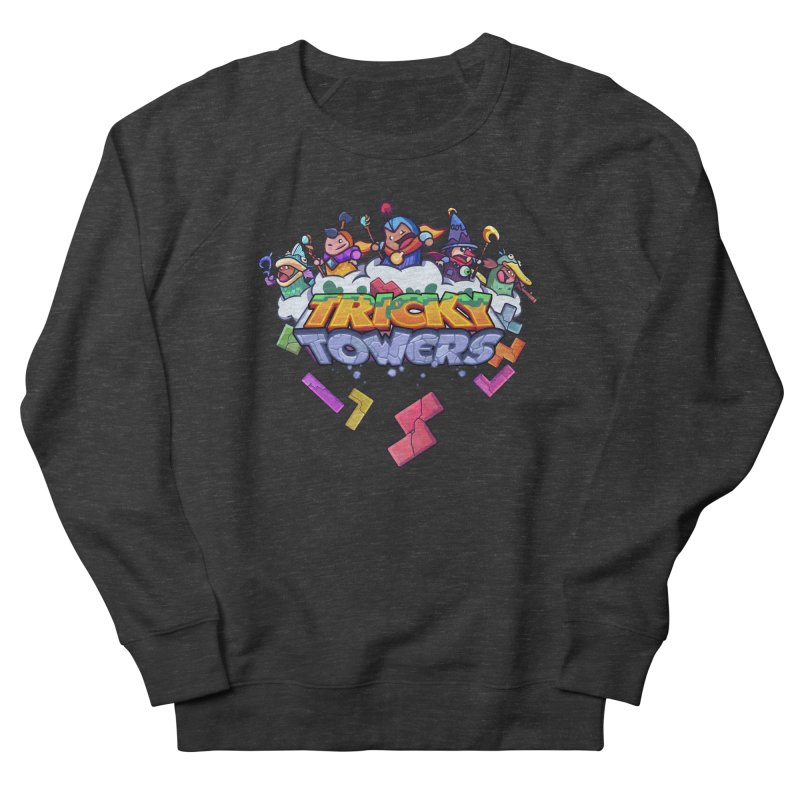Tricky Towers Men's French Terry Sweatshirt by WeirdBeard Games Shop