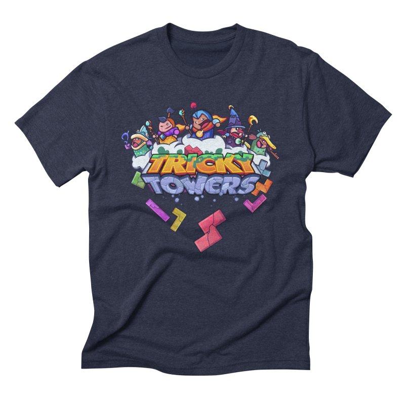 Tricky Towers Men's Triblend T-shirt by WeirdBeard Games Shop