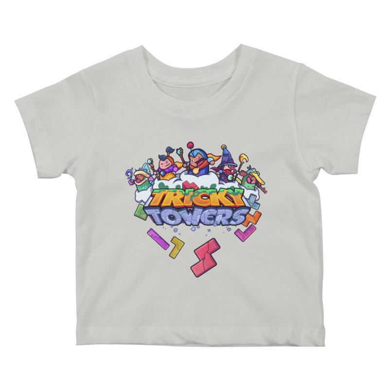 Tricky Towers Kids Baby T-Shirt by WeirdBeard Games Shop