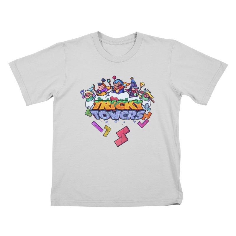 Tricky Towers Kids T-Shirt by WeirdBeard Games Shop