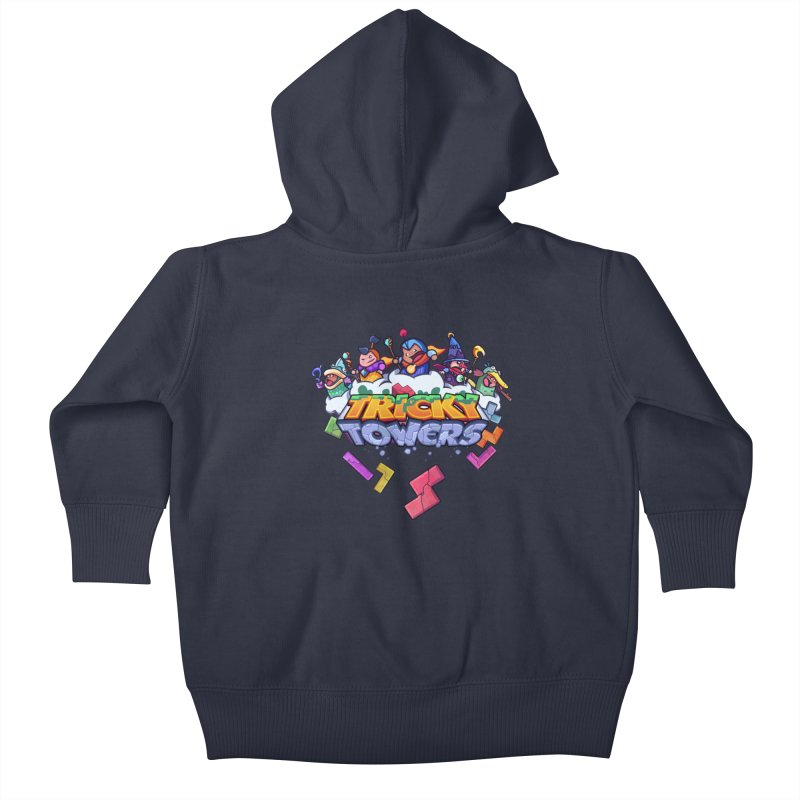 Tricky Towers Kids Baby Zip-Up Hoody by WeirdBeard Games Shop