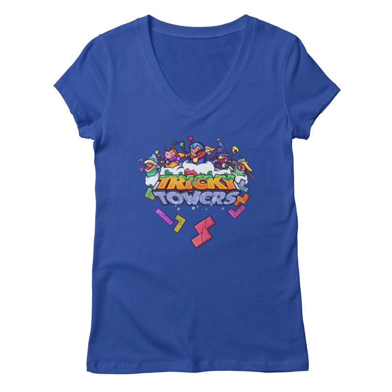 Tricky Towers Women's V-Neck by WeirdBeard Games Shop