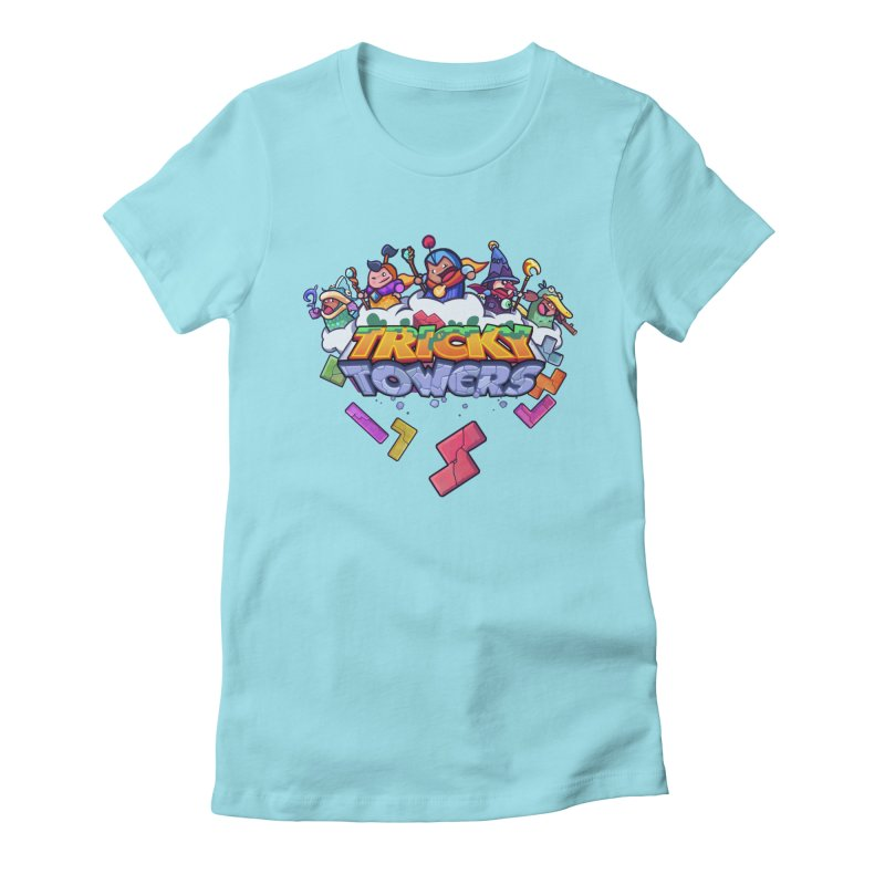 Tricky Towers Women's Fitted T-Shirt by WeirdBeard Games Shop