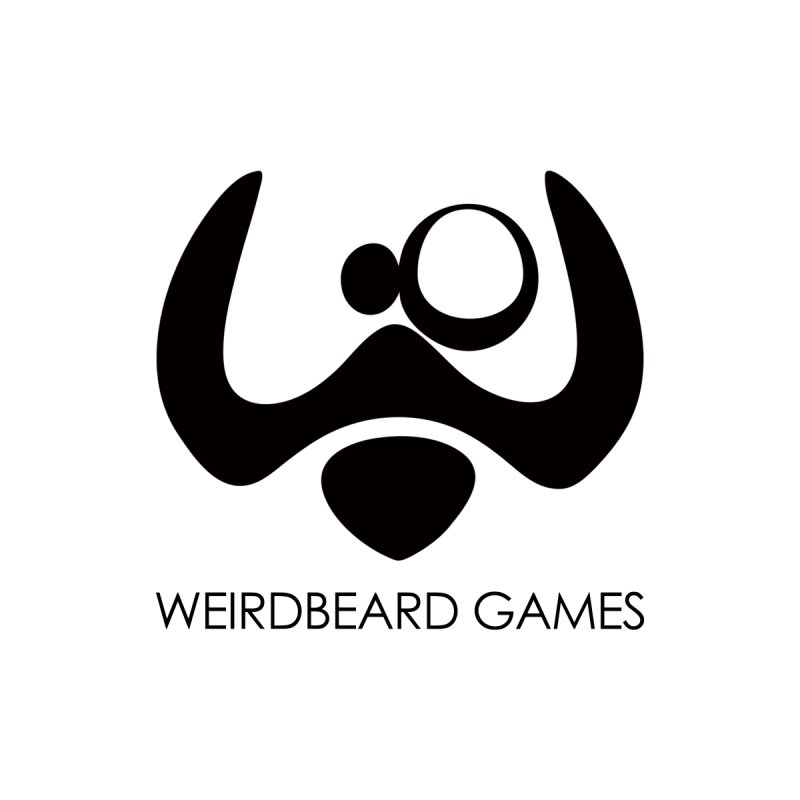 WeirdBeard Games Logo Black Men's Pullover Hoody by WeirdBeard Games Shop