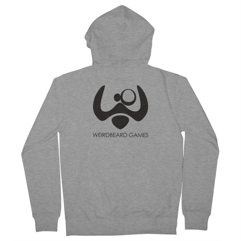 WeirdBeard Games Logo Black Men's French Terry Zip-Up Hoody by WeirdBeard Games Shop