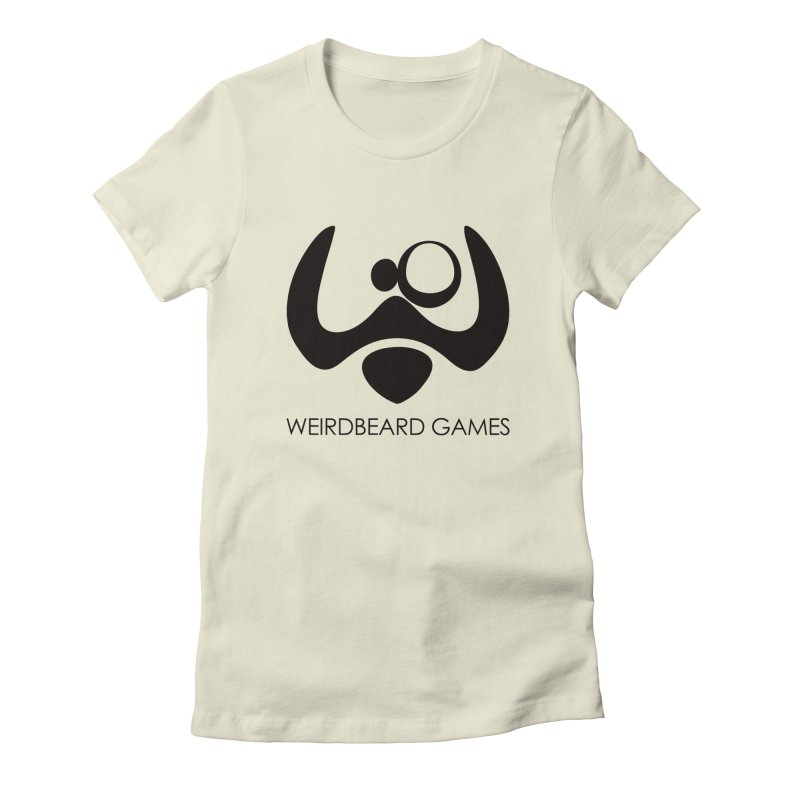 WeirdBeard Games Logo Black Women's Fitted T-Shirt by WeirdBeard Games Shop