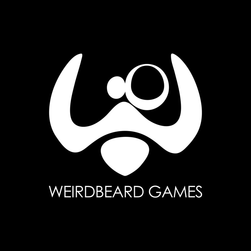 WeirdBeard Games Logo White Men's Pullover Hoody by WeirdBeard Games Shop