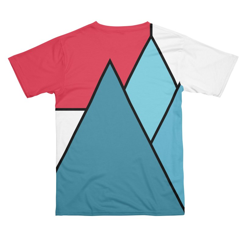 Simply mountains minimalistic nature design Men's Cut & Sew by WeirdPeople's ArtistShop