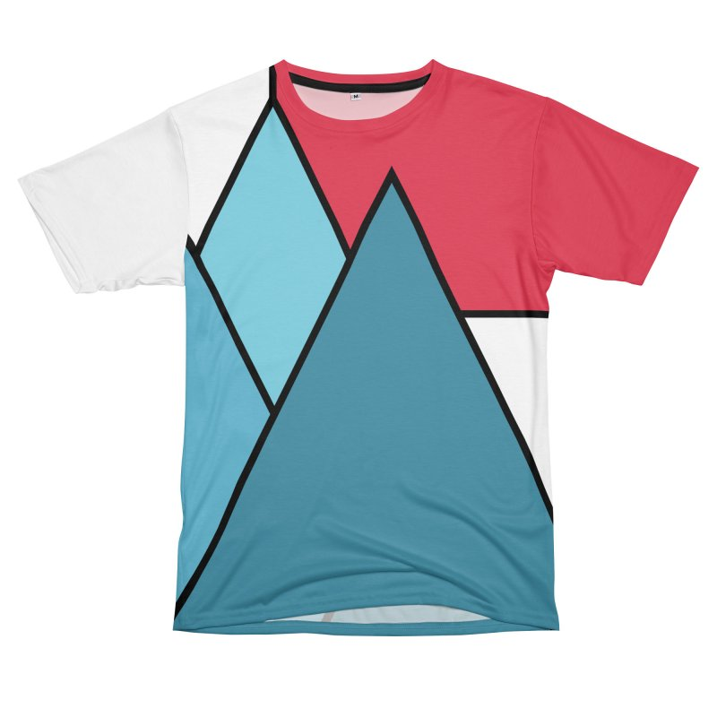 Simply mountains minimalistic nature design in Men's T-Shirt Cut & Sew by WeirdPeople's ArtistShop