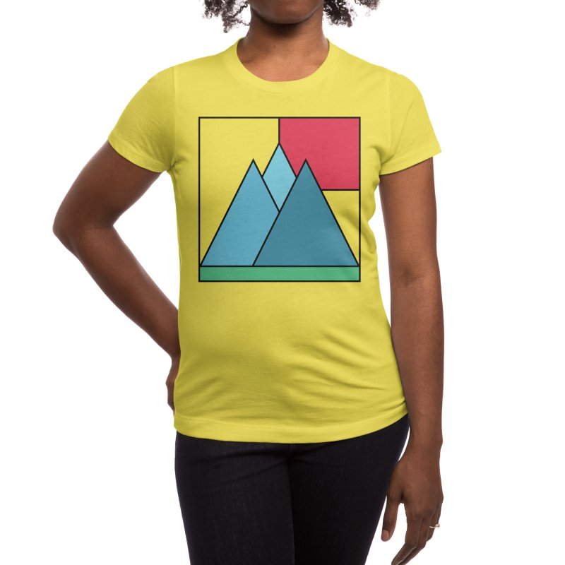 Simply mountains minimalistic nature design Women's T-Shirt by WeirdPeople's ArtistShop
