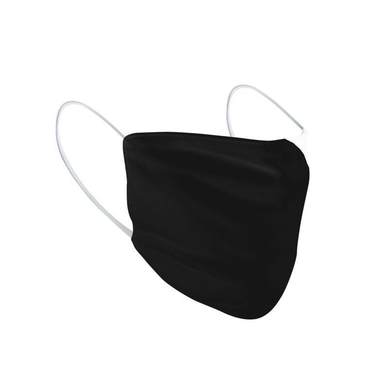 Elegant Black and White Accessories Face Mask by WeirdPeople's ArtistShop